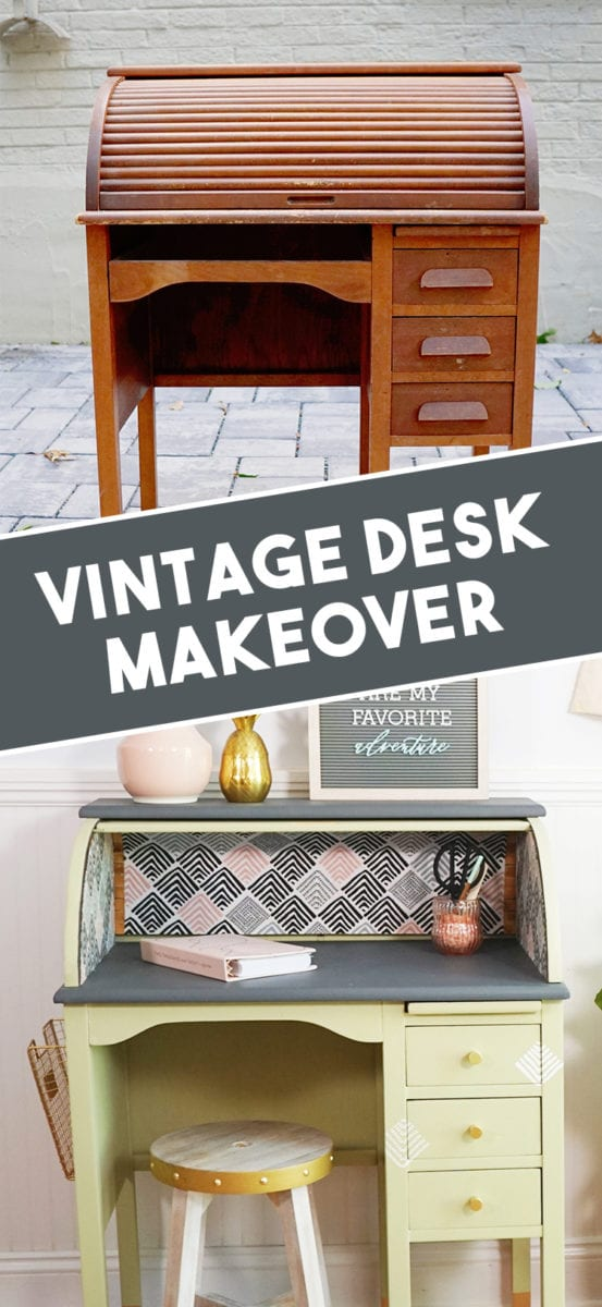 How Refinish a Vintage Roll Top Desk Makeover Before and After