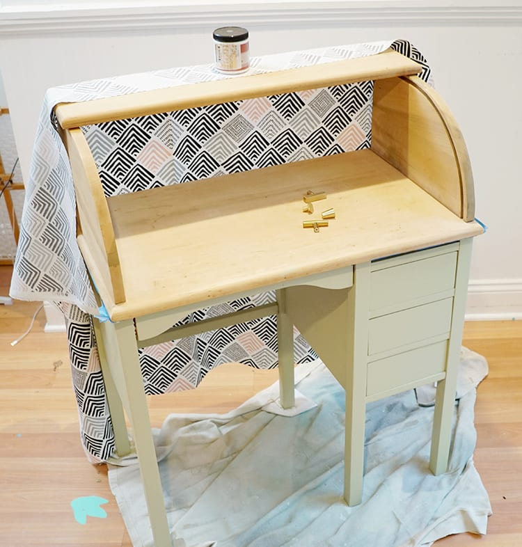 How to Makeover a Vintage Roll Top Desk