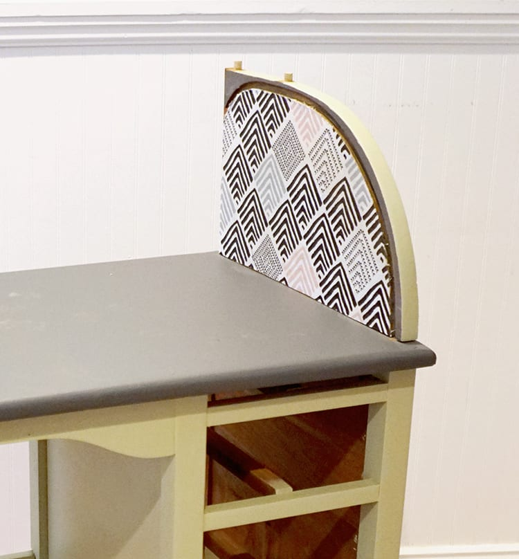 Vintage Roll Top Desk Makeover With Fabric