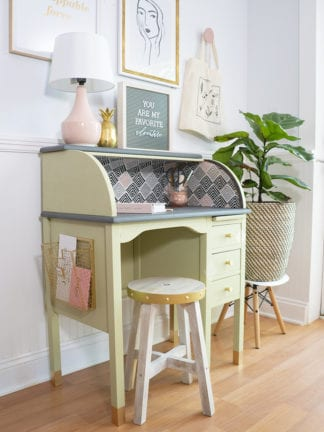 Vintage Roll Top Desk Makeover With the BEHR® Color of the Year thumbnail