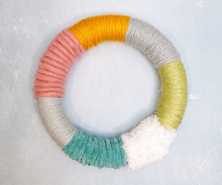 How to Make a Wreath Step by Step - Finished Yarn Wrap